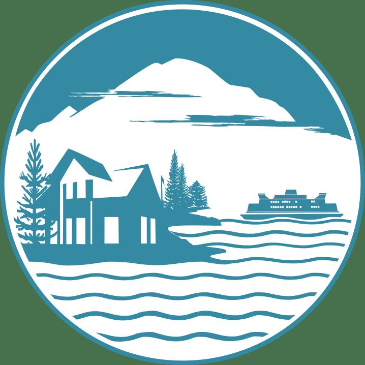 The official Living Bainbridge Logo